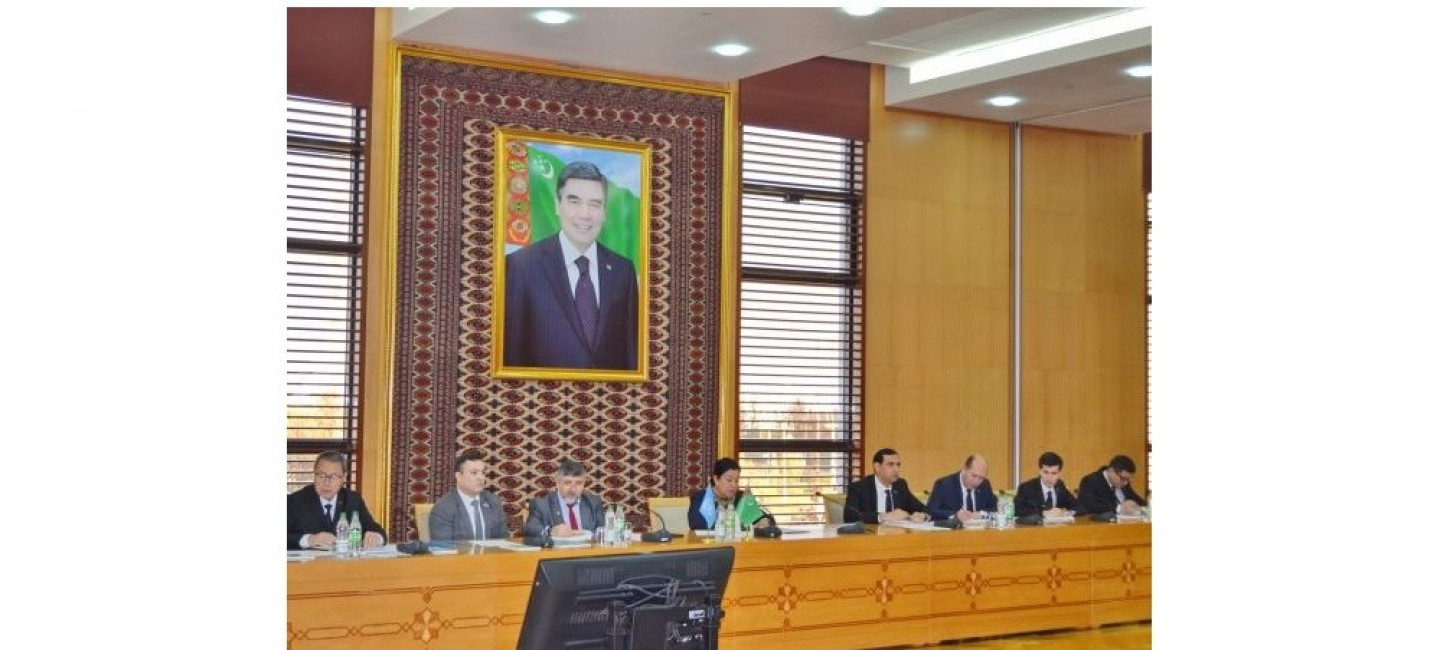A MEETING DEDICATED TO THE NATIONAL ACTION PLAN OF TURKMENISTAN ON COMBATING TRAFFICKING IN HUMAN BEINGS WAS HELD AT THE MINISTRY OF FOREIGN AFFAIRS OF TURKMENISTAN