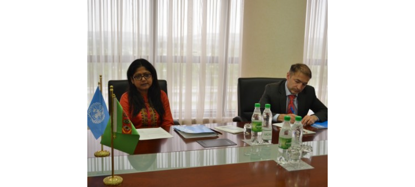 MEETING AT THE MINISTRY OF FOREIGN AFFAIRS WITH THE UNICEF REPRESENTATIVE IN TURKMENISTAN